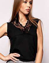 Женская блузка без рукавов с кружевом (Окси jd), фото 2