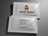 Салфетка влажная в индивидуальной упаковке с Вашим логотипом
