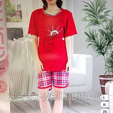 Пижама с шортами больших размеров, хлопок, Asma