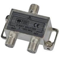 Сплиттер (Splitter) ТВ 2-way 5-1000MHZ, корпус_металл