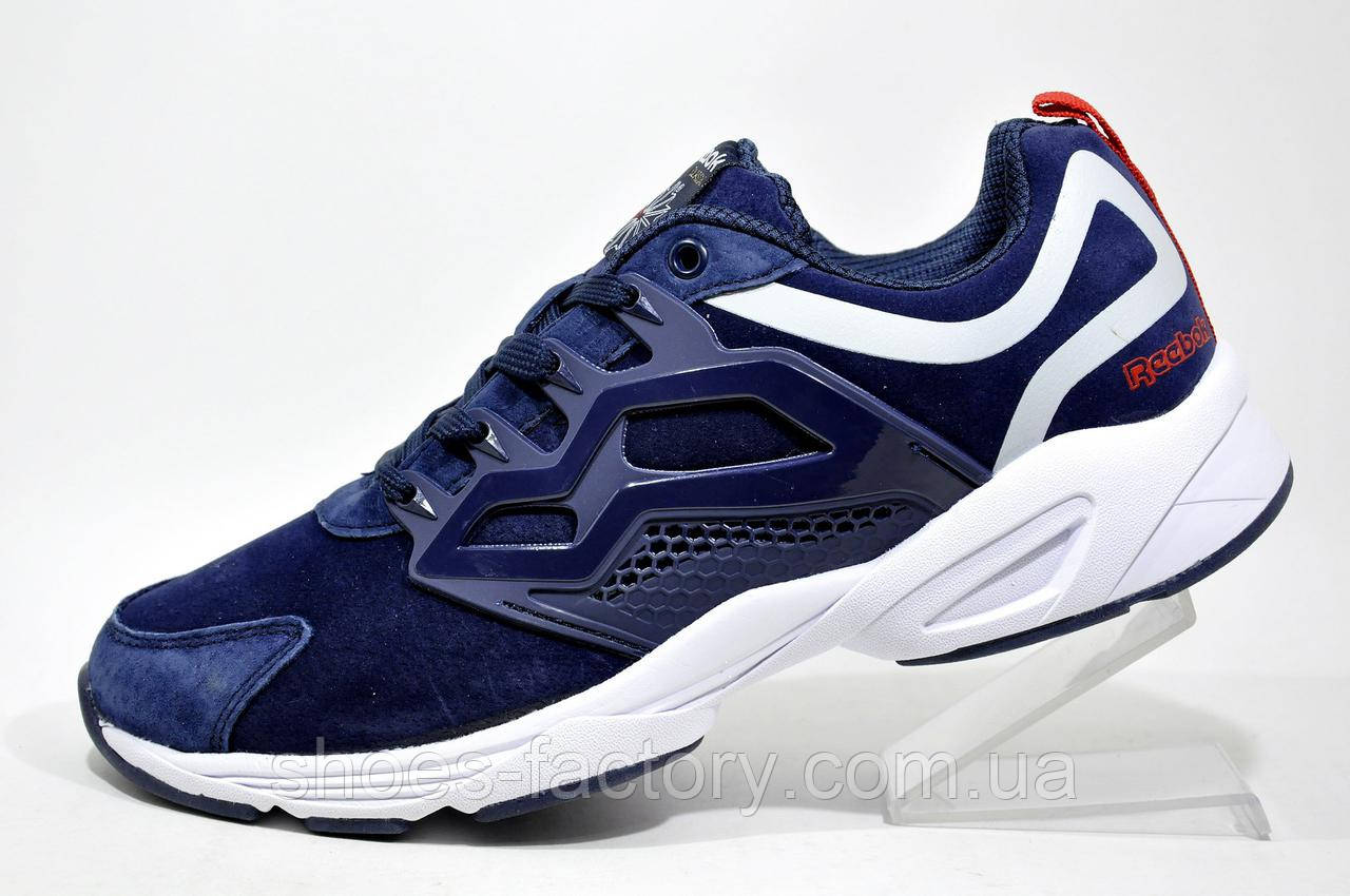 Мужские кроссовки в стиле Reebok Insta Fury, White\Dark Blue
