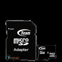 Карта памяти Team microSDHC 32GB Class 10 + adapter (TUSDH32GCL1003)