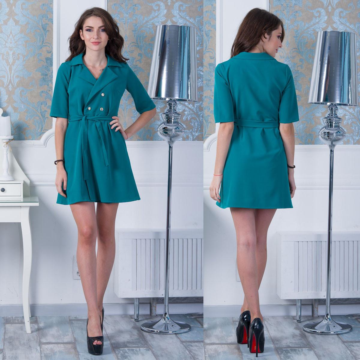 "Зелене коротке плаття з кишенями ""Альянс"""