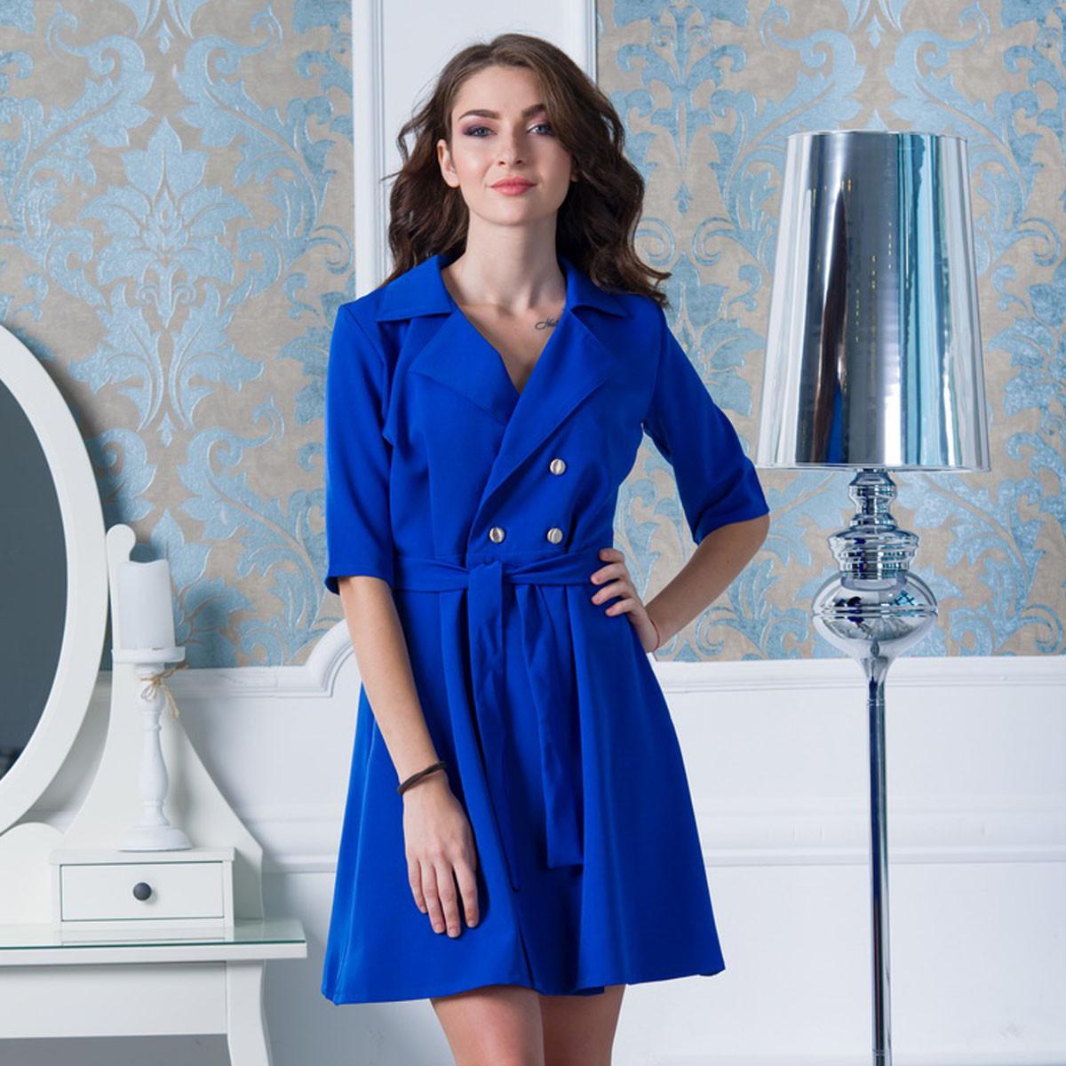 """Синє коротке плаття з поясом """"Альянс"""""""