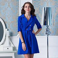 """Синє коротке плаття з поясом """"Альянс"""", фото 1"""