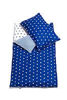 Постельное белье подростковое «Синие звезды/ невероятный синий»
