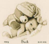 """PN-0155574 Набор для вышивки крестом Vervaco """"В объятиях плюшевого мишки"""""""