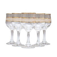 Набор бокалов для красного вина декорированных под золото VERSACE 210мл ArtCraft 31-146-233