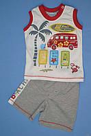 Костюм 2-ка для мальчика с нашивками (68 см)  Mackays 2100000256341