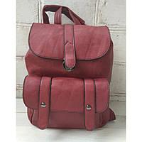 Рюкзак-сумка из эко-кожи бордового цвета