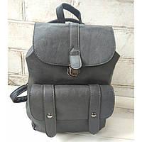 Рюкзак-сумка из эко-кожи серого цвета
