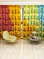 Фотоштора Разноцветный дом (23819_1_1)
