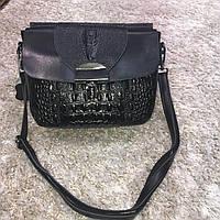 Брендовая маленькая женская сумка из натуральной кожи