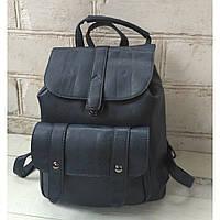 Рюкзак-сумка из эко-кожи темно-синий цвет