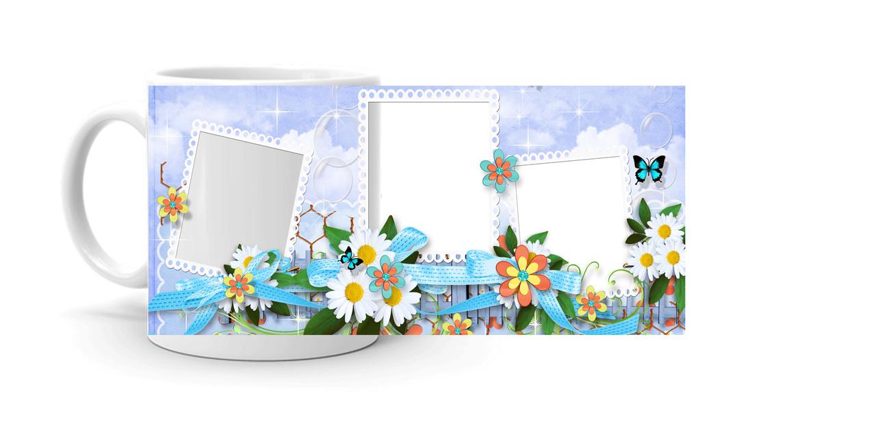 """Чашка з фото """"Квіти"""""""