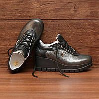 7131.1  Женские туфли наплатформе и шнуровке: 37; 38; 39