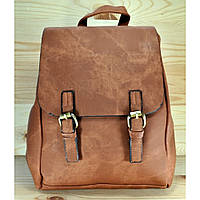 Рюкзак из мягкой эко-кожи коричневого цвета