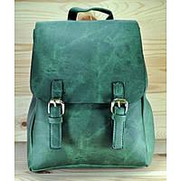 Рюкзак из мягкой эко-кожи зеленого цвета