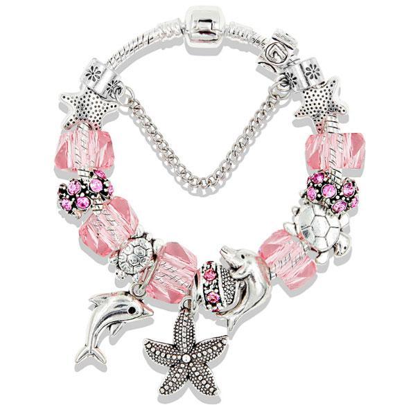 Женский браслет Primo Ocean в стиле пандора - Pink