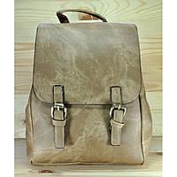 Рюкзак из мягкой эко-кожи кофейного цвета