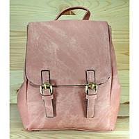 Рюкзак из мягкой эко-кожи пудрового цвета
