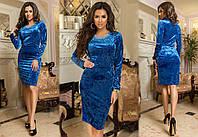 Платье велюровое в расцветках 32358, фото 1