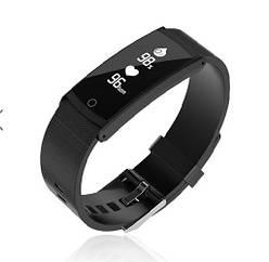 Фитнес браслет M2s Black Bluetooth, шагомер, фитнес трекер, пульс, давление, монитор сна