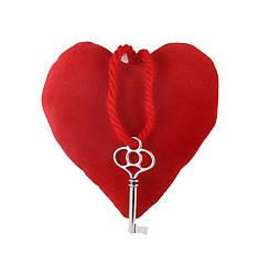 Сердце плюш с подвеской ключ 10*10*4 см GULL (3019)