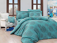 Жаккардовое постельное белье Nazenin евро размер Lavida turkuaz