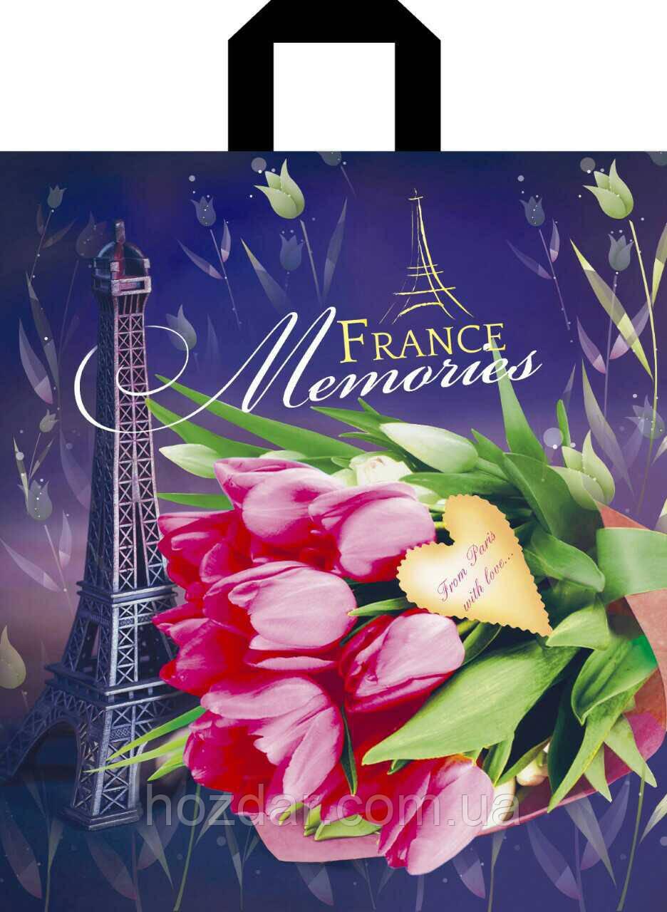 """Пакет с петлевой ручкой """"Франция"""" 40х43см."""