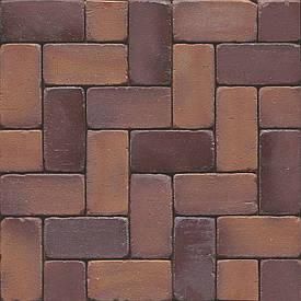 Клинкерное мощение MUHR PK 52  Nr. 04SG Rotbraun-bunt Spez.gerumpelt - Красно-коричневый оббитый пестрый Сп