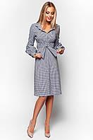 Женское платье-рубашка Нари темно-синий Jadone 42-48 размеры