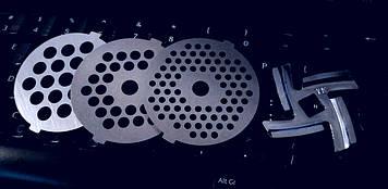 Комплект ніж і 3 решітки для м'ясорубки Сатурн (Saturn)