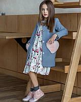 Детское кашемировое пальто элит-класса. Дизайнерская  коллекция детской одежды весна 2018