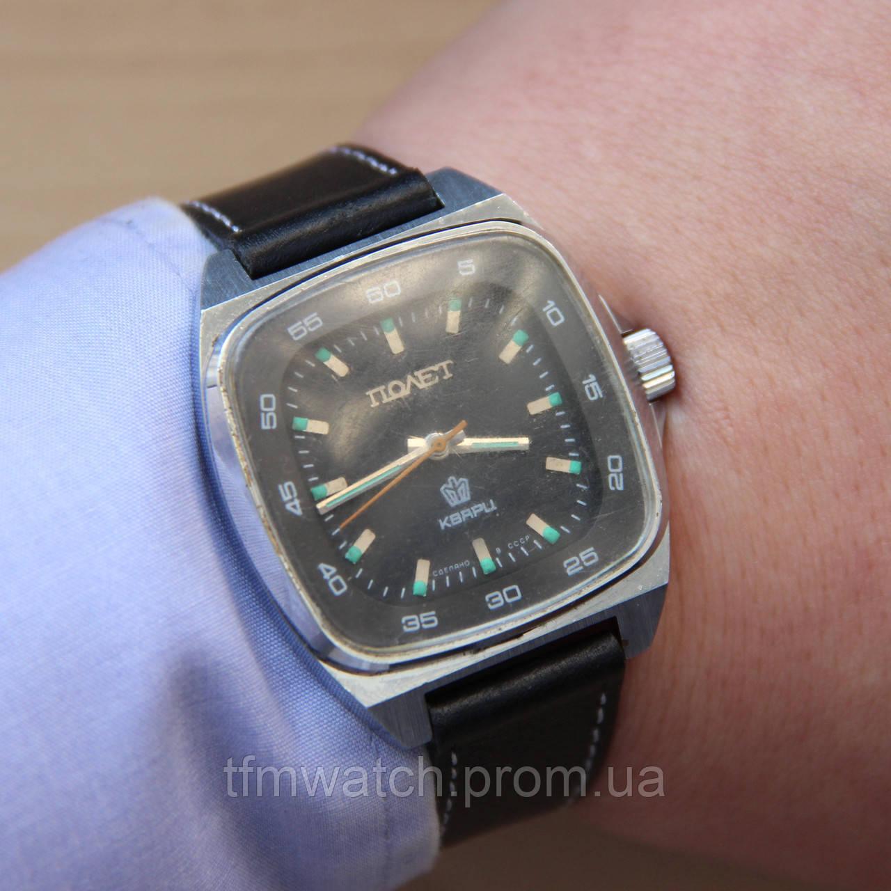 Полет Кварц кварцевые наручные часы СССР , фото 1