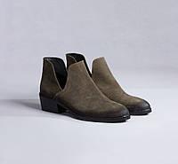 Демисезонные замшевые полуботинки (туфли) Maria Caruso