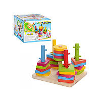 """Деревянная игрушка """"Пирамидка-ключ"""""""