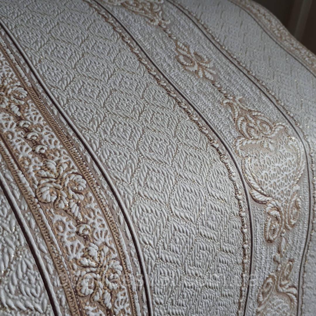 Обои Дамаск 2 3583-12 виниловые на флизелине,длина 15 м,ширина 1.06 =5 полос по 3 м каждая