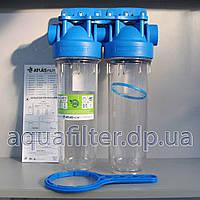 """Фильтр грубой очистки воды Atlas 10 DP DUO-TS 1"""""""