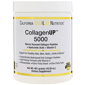 California Gold Nutrition, Collagen UP™ 5000, Marine-Sourced Collagen Peptides + Hyaluronic Acid & Vitamin C,