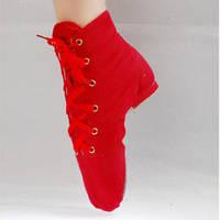 Обувь для современных танцев джазовки высокие из ткани