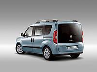 Заднее стекло (ляда) с э.о. и отверствием на Fiat Doblo 2010-