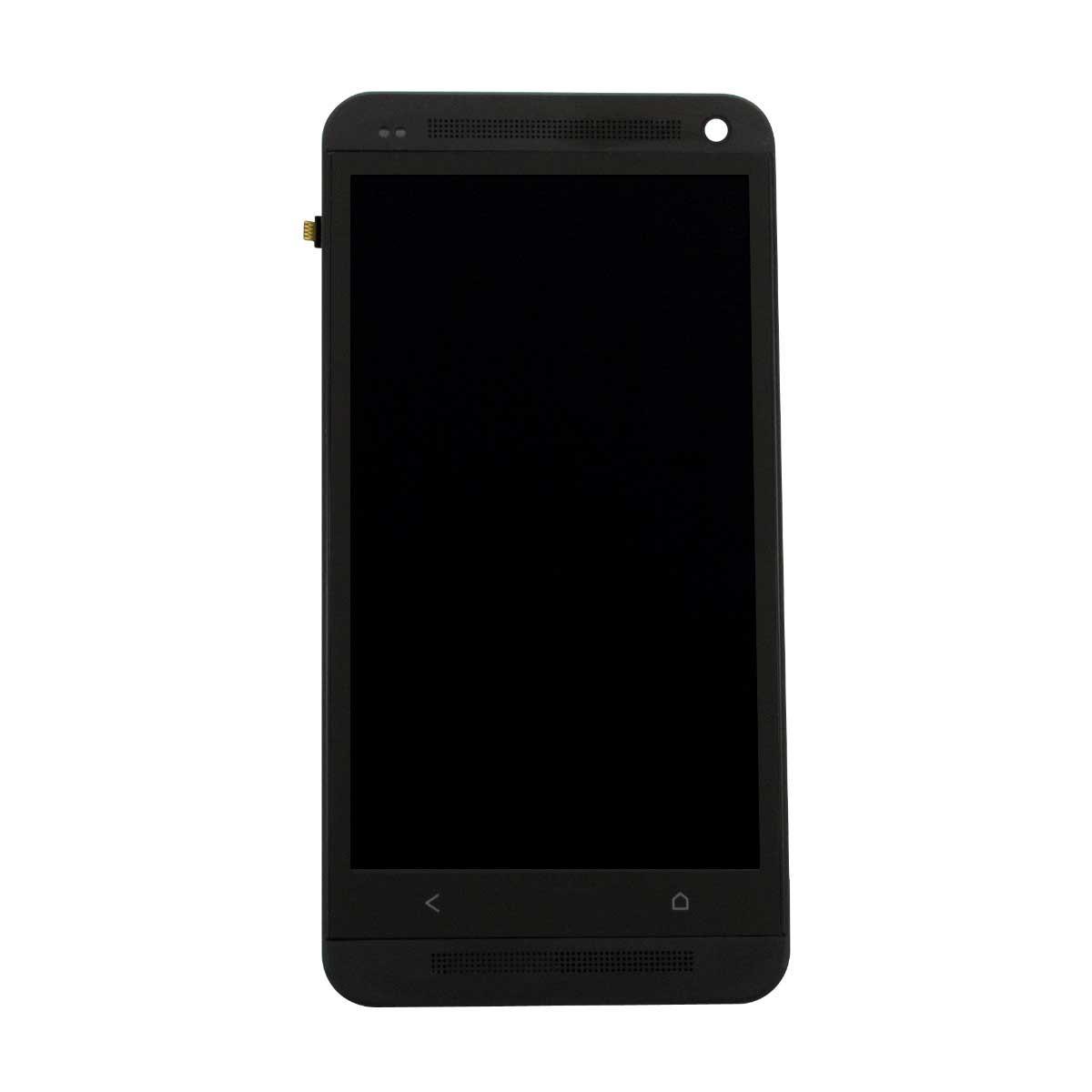 Дисплей модуль HTC One M7 802w Dual Sim в зборі з тачскріном, чорний, з рамкою