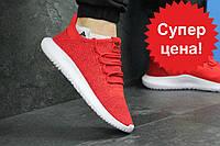 Кроссовки мужские демисезонные Adidas Tubular Shadow Knit красные