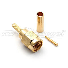 Разъем штекер SMA под кабель RG-316, RG-174, RG-188 Crimp (обжим)