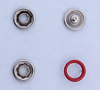 Кнопки пуговицы 10 мм красного цвета ободок
