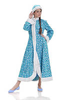 Снегурочка женский карнавальный костюм со снежинками