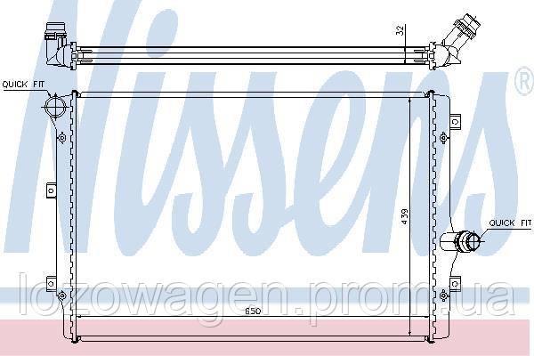Радиатор двигателя VAG 1,6+2.0TDI NISSENS 65281A