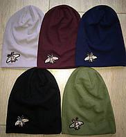 Трикотажные модные шапочки