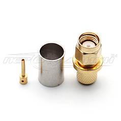 Разъем штекер RP-SMA (реверсивный) под кабель RG-6 Crimp (обжим)